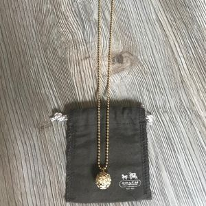 coach necklace gold/white
